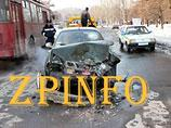 В Запорожье пьяный таксист протаранил пассажирский автобус