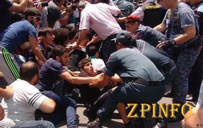 Акция протеста в Ереване переместилась на площадь Свободы