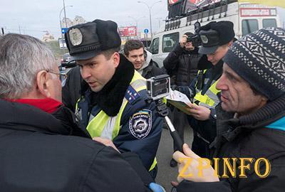 Как Запорожские сотрудники ГАИ с активистами договаривались