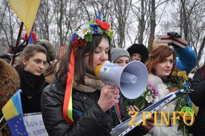 Как женщины Запорожья отпор Путину давали