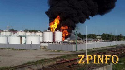 МВД озвучило свою причину пожара на нефтебазе под Васильковым