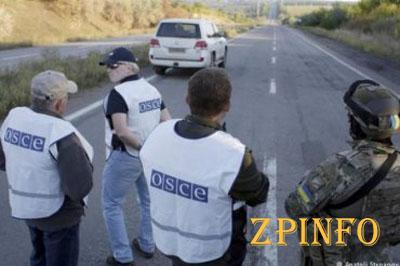 Наблюдатели ОБСЕ попали под минометный огонь (Видео)