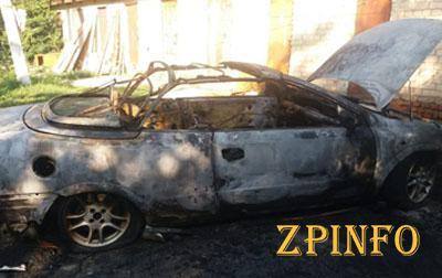 Ночью в Запорожской области сгорел «Opel»