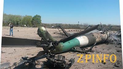 Под Краматорском горел военный вертолет