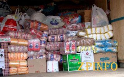 Прихожане из Запорожья передали военным тонну продуктов