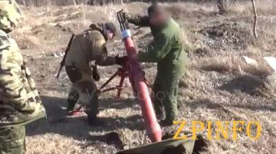Противник использует при обстреле украинских позиций тяжелое вооружение (Видео)