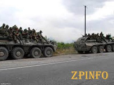 Российские войска на подступе к Украине