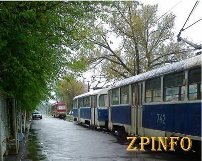 Центр Запорожья временно остался без трамваев