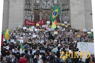 В Бразилии увеличились массовые акции протеста