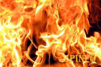 В Коммунарском районе произошел пожар