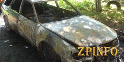 В районном центре Запорожской области сгорел автомобиль