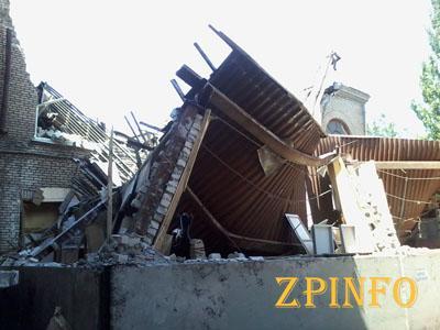 В центре Запорожья рухнула часть здания