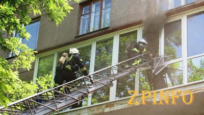 В центре Запорожья загорелась квартира