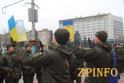 В Запорожье 135 новобранцев приняли присягу