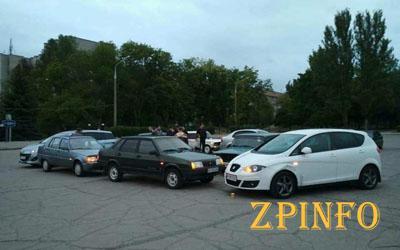 В Запорожье автолюбители устраивают необычный флешмоб