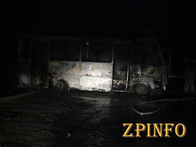 """В Запорожье бойцам батальона """"Донбасс"""" спалили автобус"""