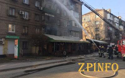 В Запорожье едва не сгорел популярный ресторан