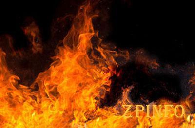 В Запорожье горел магазин