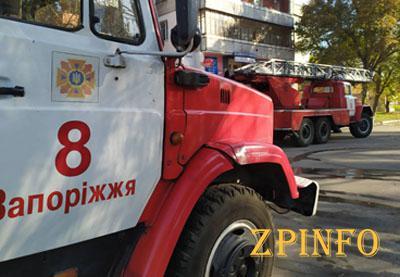 В Запорожье на Чумаченко горел балкон