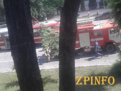 В Запорожье на Кичкасе горел трамвай, никто не пострадал