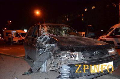 """В Запорожье на """"Космосе"""" пьяный водитель сбил пять человек"""