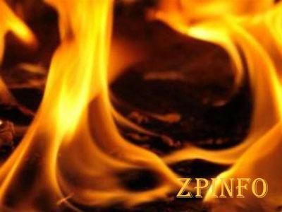 В Запорожье на пожаре пострадал мужчина