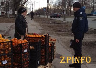 В Запорожье на рынки нагрянули полицейские