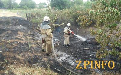В Запорожье произошел масштабный пожар