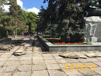 В Запорожье начали ремонт площади в старой части города