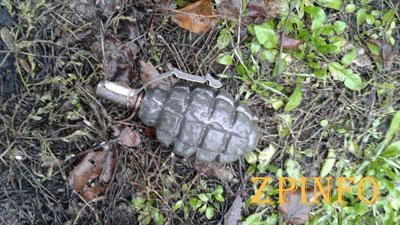 В Запорожье нашли гранату