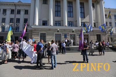 В Запорожье настоящий аншлаг c митингами перед сессией горсовета