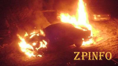 В Запорожье ночью сгорела иномарка