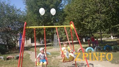 В Запорожье открылась еще одна новая детская площадка