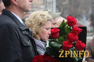 В Запорожье почтили память погибшего героя АТО
