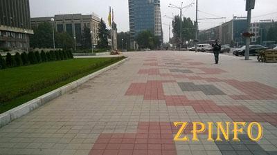В Запорожье подходит к концу реконструкция площади Героев Майдана