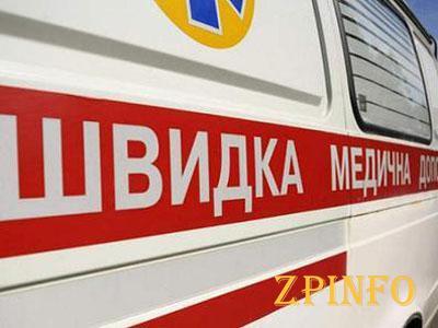 В Запорожье посреди улицы застряла карета скорой помощи