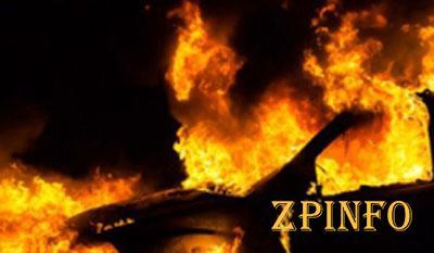 В Запорожье потушили пожар в иномарке