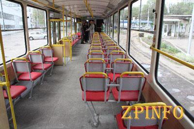 В Запорожье появился музыкальный трамвай