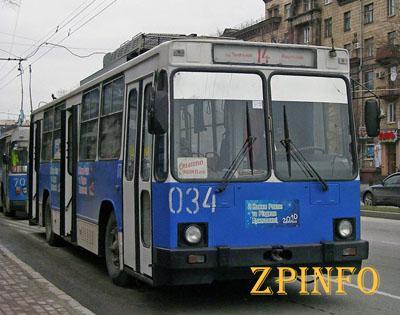 В  Запорожье продлят троллейбусный маршрут №14