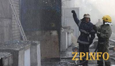 В Запорожье сгорел крупный склад