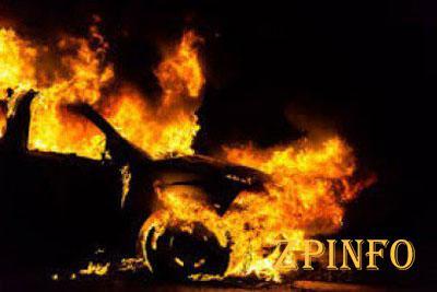 В Запорожье сгорел очередной автомобиль