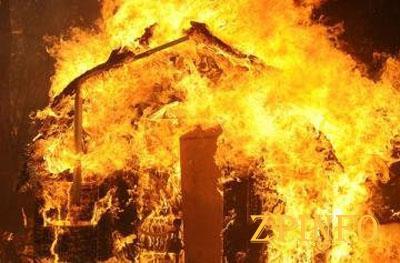 В Запорожье сгорела дача