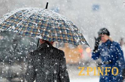 В Запорожье и области снег будет идти три дня