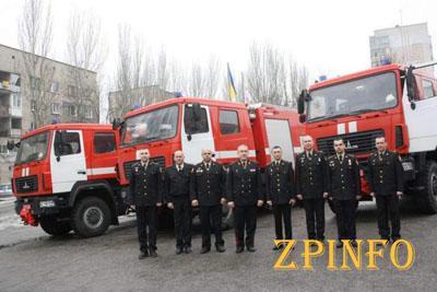 В Запорожье спасатели получили новую технику
