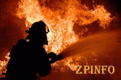 В Запорожье загорелись сразу два гаража