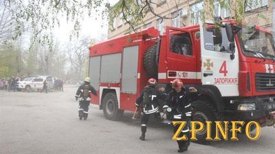В запорожские школы приехали пожарные