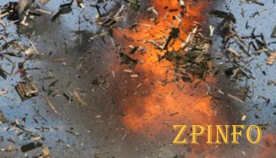 В Запорожской области горел склад