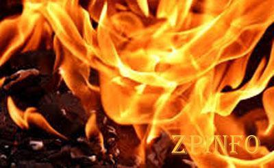 В Запорожской области загорелся жилой дом