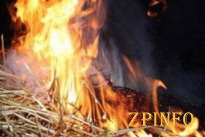 В Запорожской области горели 3 тонны соломы