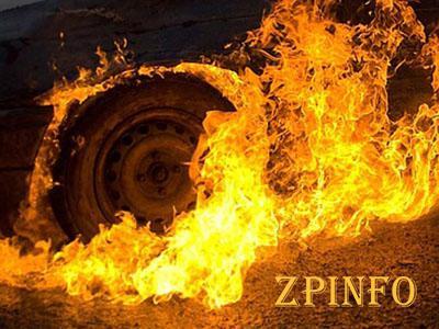 В Запорожской области на трассе сгорел грузовик